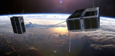 small satellites in space